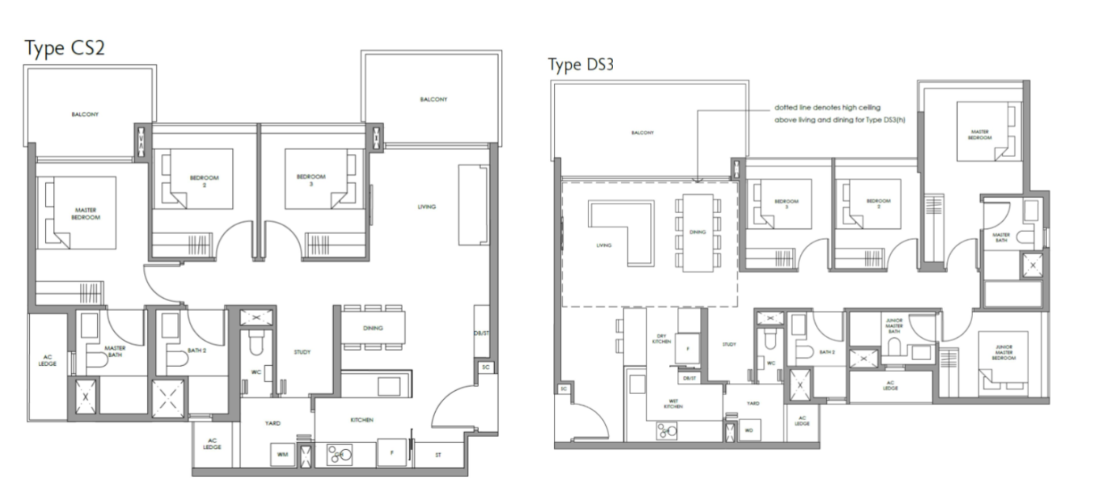 3 and 4 Bedroom
